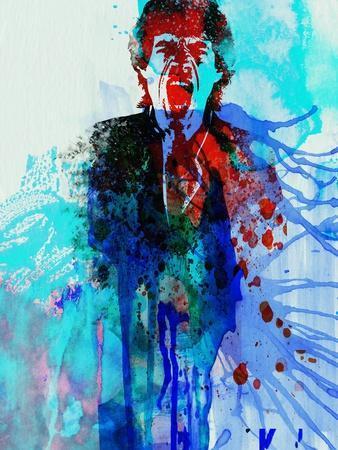 Legendary Mick Jagger Watercolor