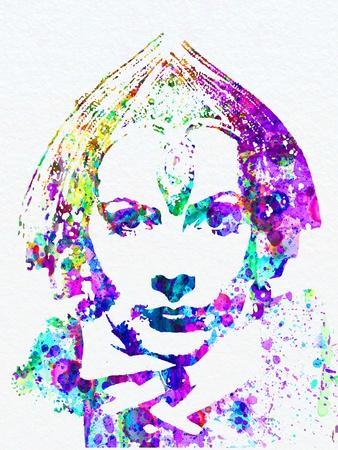 Legendary Greta Garbo Watercolor