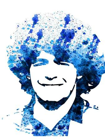 Legendary Maradona Watercolor