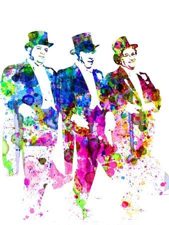 Legendary Three Stooges Watercolor I