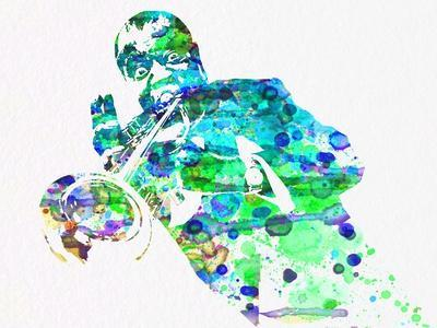 Legendary Louis Armstrong Watercolor