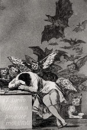 """The Sleep of Reason Produces Monsters, from """"Los Caprichos"""""""