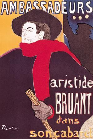 Poster Advertising Aristide Bruant in His Cabaret at the Ambassadeurs, 1892