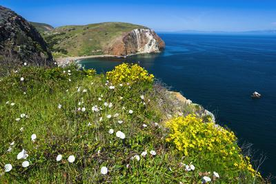 Hiking at Scorpion Ranch, Santa Cruz Island, Channel Islands National Park, California, USA