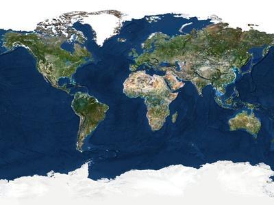 Whole Earth, Satellite Image