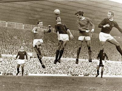 Manchester United vs. Arsenal, Football Match at Old Trafford, October 1967