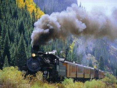 Steam Train, Durango & Silverton Railroad, Silverton, Colorado, USA
