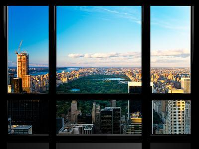Window View, Special Series, Central Park, Sunset, Manhattan, New York, United States
