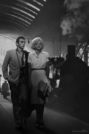 James Dean and Marilyn at the Station