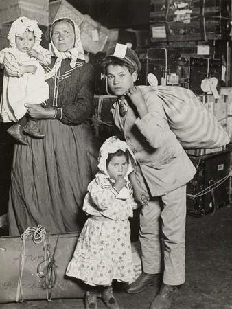 Italian Family Seeking Lost Baggage, Ellis Island, 1905