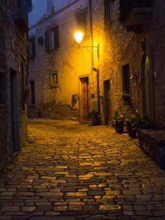 Night Scene from the Streets of Montefillairi Chianti Tuscany