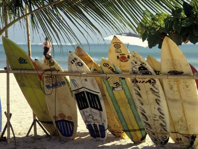 Surfboards on Tropical Beach, Bali