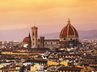 Italy, Florence, Tuscany, Western Europe, 'Duomo' Designed by Famed Italian Architect Brunelleschi,
