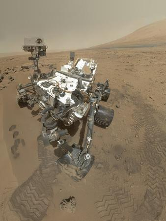 Self-Portrait of Curiosity Rover in Gale Crater on the Surface of Mars