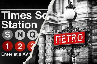 Dual Torn Posters Series - Paris - New York