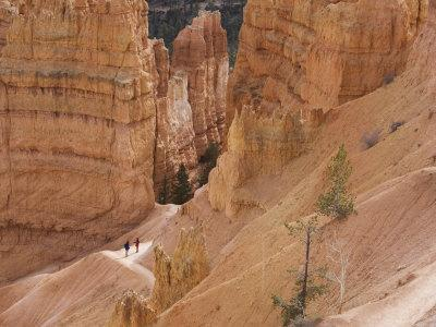 People on Trail, Bryce Canyon National Park, Utah, United States of America, North America
