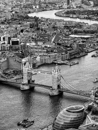 View of City of London with Tower Bridge - London - UK - England - United Kingdom - Europe