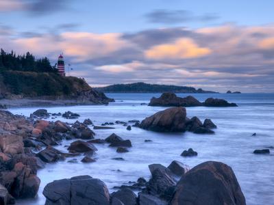 Maine, Lubec, West Quoddy Lighthouse, USA