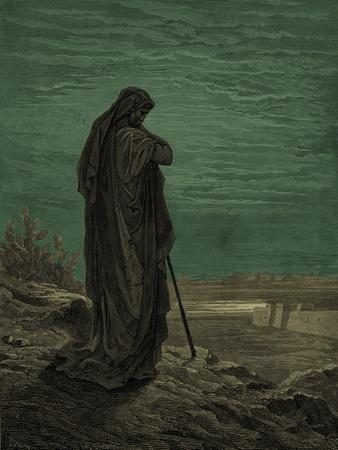 Prophet Amos, engraving by Gustave Doré - Bible