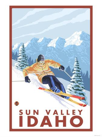 Downhhill Snow Skier, Sun Valley, Idaho