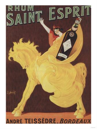 Bordeaux, France - Rhum Saint Esprit - Andre Teissedre Promo Poster