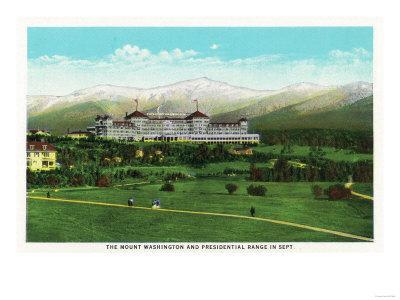 Bretton Woods, NH - Mt Washington Hotel, Presidential Range in September