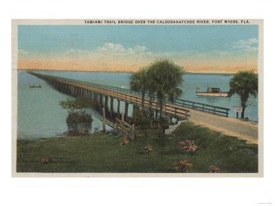 Ft. Myers, Florida - View of Tamiami Trail Bridge