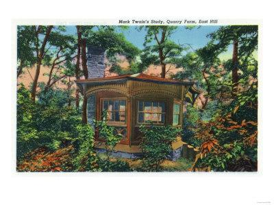 Elmira, New York - Exterior View of Mark Twain's Study at Quarry Farm, East Hill