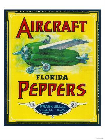 Ft. Lauderdale, Florida - Aircraft Pepper Label