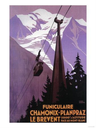 Chamonix-Mont Blanc, France - Funicular Railway to Brevent Mt.