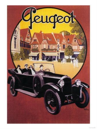 France - Peugeot Automobile Promotional Poster