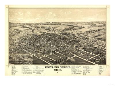 Bowling Green, Ohio - Panoramic Map