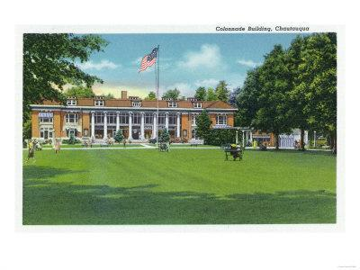 Chautauqua, New York - Exterior View of the Colonnade Building