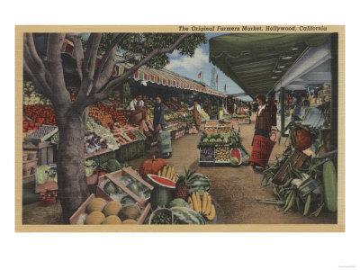 Hollywood, CA - View of Original Farmer's Market