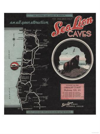 Sea Lion Caves, Florence, Oregon - US Hwy 101 Poster