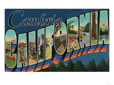 Cambria, California - Large Letter Scenes