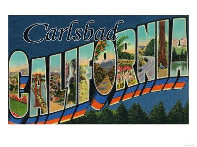 Carlsbad, California - Large Letter Scenes