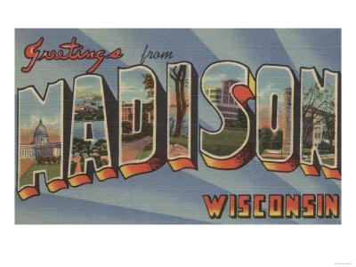 Madison, Wisconsin - Large Letter Scenes