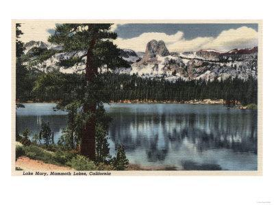 Mammoth Lakes, California - View of Lake Mary & High Sierra Mts.