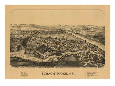 Schaghticoke, New York - Panoramic Map