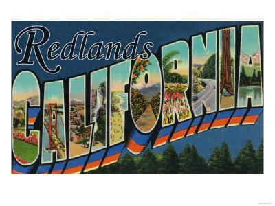 Redlands, California - Large Letter Scenes