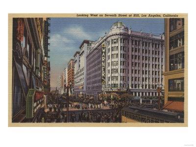 Los Angeles, CA - View of Warner Bros. on 7th St.