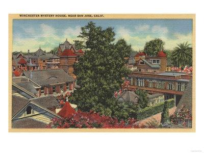 San Jose, California - View of Winchester Mystery House