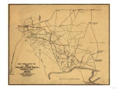 Battle of Shiloh - Civil War Panoramic Map