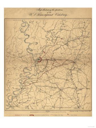 Siege of Vicksburg - Civil War Panoramic Map