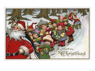 Christmas Greeting - Santa and Helpers