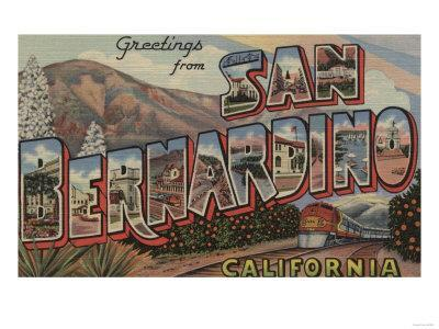 San Bernardino, California - Large Letter Scenes