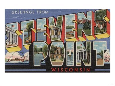Stevens Point, Wisconsin - Large Letter Scenes