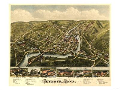 Seymour, Connecticut - Panoramic Map