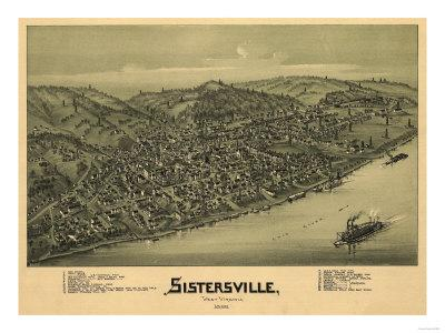 Sistersville, West Virginia - Panoramic Map